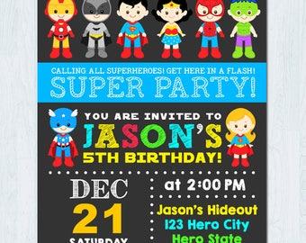Superhero Invitation Etsy Jpg 340x270 Printable Party Invitations
