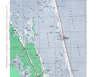 Corolla Print, Beach Decor, Outer Banks, Corolla NC Art, Wall Art, Corolla Poster, Vintage Map Print