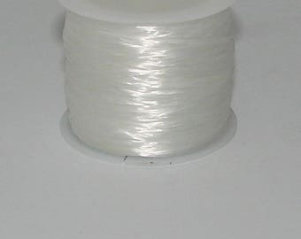 Elastic 3 m white 0.8 mm thick