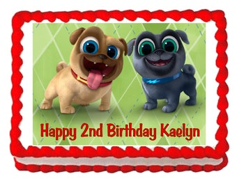 Puppy Dog Pals party decoration edible cake image cake topper frosting sheet*