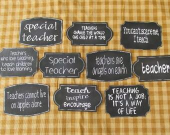 Teachers Chalkboard Style Sticky Labels