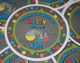 Science Birthday Favor Tags / Science Favor Tags / Science Party Tags / Chemistry Favor Tags / Science Birthday Party / Science Tags /Set 12