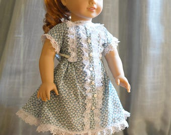 18 inch doll clothes - Flower and Lace Dress