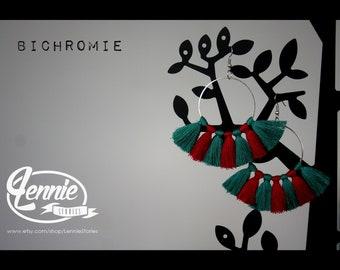 Earrings / Earrings - Duotone - Handmade by Lenniestories - gift for her / gift for el