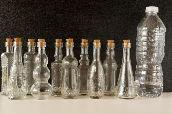 Decorative Clear Glass Bottles Impressive Decorative Clear Glass Bottles With Corks 5 Tall Set Design Inspiration