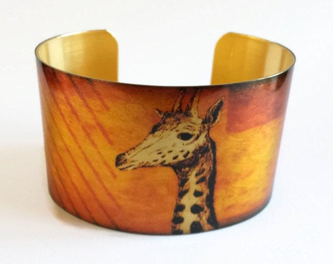 Giraffe cuff bracelet brass   Gifts for her