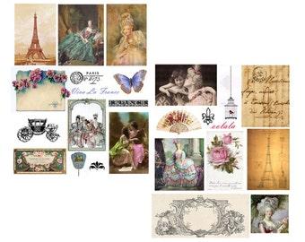Viva Le France Digital Collage Sheets