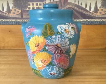 Cookie Jar Handpainted Ransburg