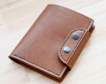 Vegetable tanned Leather Travel Wallet/Passport holder/Horween Leather Travel Organizer