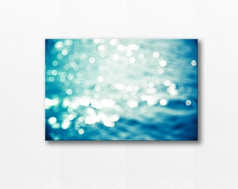 abstract canvas art large canvas photography canvas print 12x18 fine art photography bokeh canvas nautical canvas gallery wrap water teal