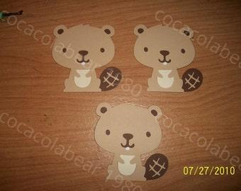 Beaver die cuts lot of 3