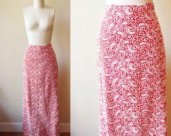 1960s embroidered maxi skirt // statement // vintage skirt