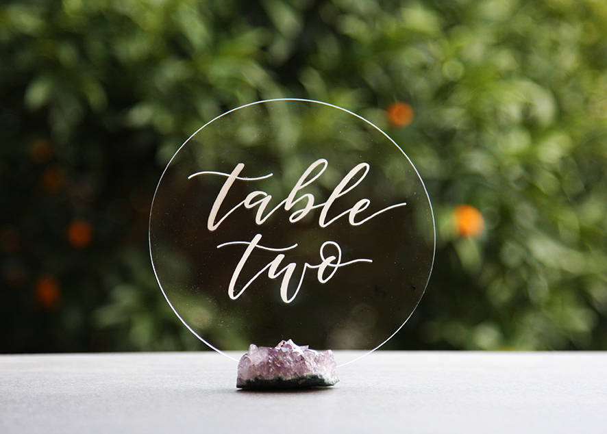 Round Acrylic Table Numbers Circle Wedding Numbers Table