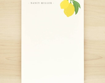 LIMONE Personalized Notepad - Yellow Lemon Pretty Feminine