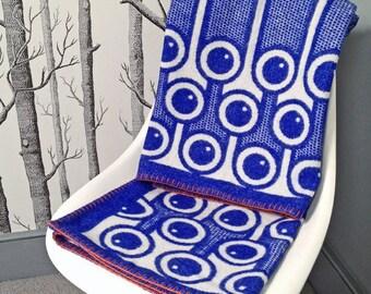 Blueberries pattern woven lambswool blanket