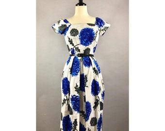 1950s Bijou Original Floral print dress UK 10 US 0