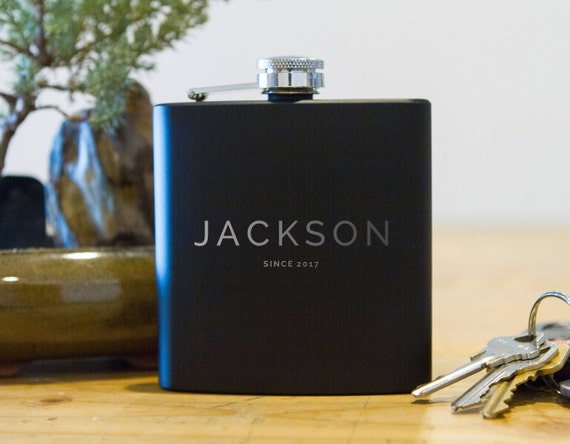Personalized Flask | Classy Flask | Wooden Flask Birthday Gift | Groomsman's Flask |  Birthday Flask | Guys Gifts | Birthday gifts