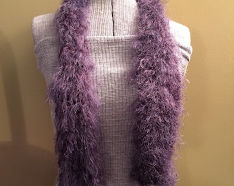 Fuzzy Furry Purple Scarf