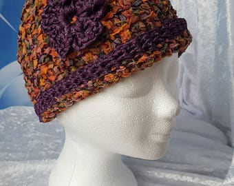 Beanie ' Autumn ' (series ' Purple Flower ')