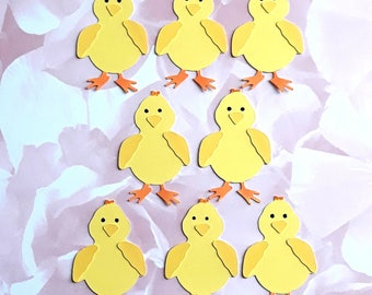 8  Die cut Easter Chick  Embellishments super cute little chick  Toppers for Cardmaking Crafts Scrapbooking Handmade card Toppers