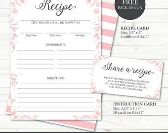 recipe paper template akba greenw co