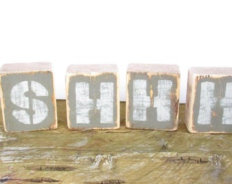 SHHH Rustic Nursery Decor-Baby Shower Gift-Gender Neutral Nursery Decor