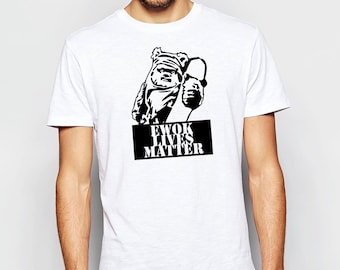 STAR WARS Ewok Lives Matter Classic Funny Tshirt in White