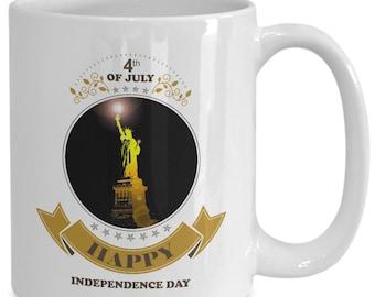 Happy 4th of july mug - 11 or 15 oz mug - fourth of july independence day of america