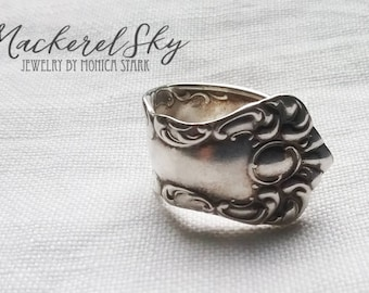 Spoon Ring - Antique Recycled Victorian Silver Spoon Ring - Recycled Jewelry