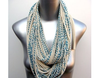 Teal Scarf, Teal Infinity Scarf, Infinity Scarf, Gift for Her, Gift for Women, Statement Necklace, Scarf Women, Scarves for Women, Women