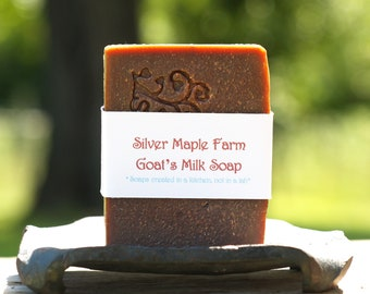 Toasted Vanilla Bean Goat Milk Soap ~ Homemade & Farm Fresh, 4.5-4.9 oz. Cold Process