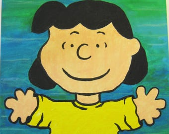 Children's Hand Painted Lucy Picture
