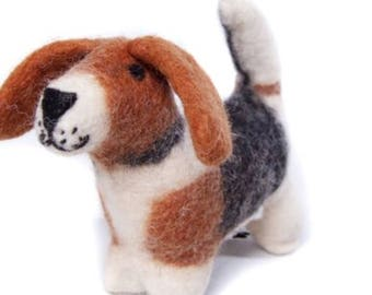 Cute felt Hound Toy.