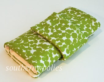 Knitting Needle Case for Interchangeable Tips and Circulars - Spring Green