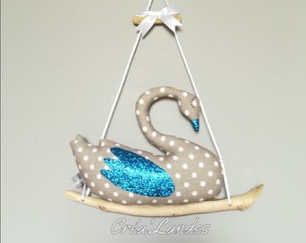 Mobile Swan decoration room boy birthday gift