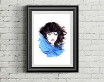 Kate Bush Print A3