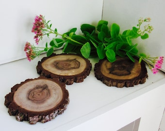 Walnut Wood Slices, Wood Centerpieces, Wood Discs, Wood Coasters