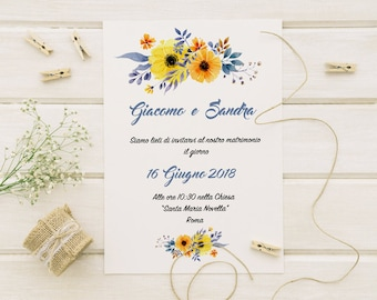 Wedding participations. Shabby Chic Floral style. Wedding invitation, wedding invitation.