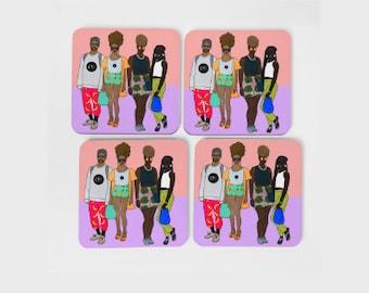 Bredrins Coaster Set (x4)
