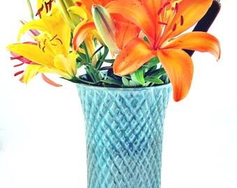 Wedding Gift - 9th Anniversary gift, utensil holder, Pottery flower vase,  - IN STOCK