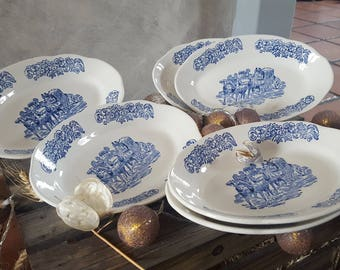 set of 6 oval plates
