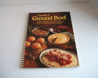 Country Ground Beef Vintage Cookbook - 1993 Vintage Cookbook - Reiman Publications Cookbook