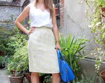 on sale Vintage pencil skirt, higt waist, size 36 ( 8Uk, 6US)