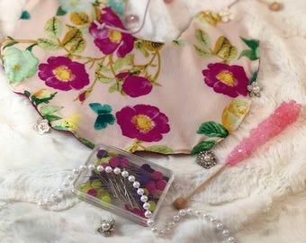 Vintage Baby Girl Flower Bib