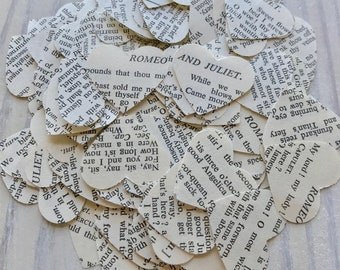 Romeo and Juliet, Shakespeare, Wedding, Bridal, Hearts, Confetti