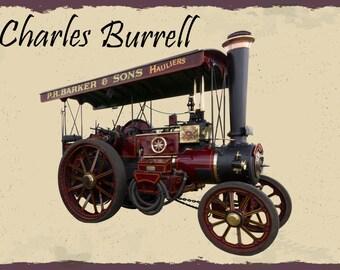 Charles Burrell, Steam Engine , Metal Sign,  No.565