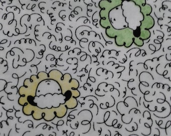 Sheep's and peeps cotton fabric
