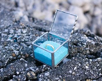 Wedding ring box, Wedding ring holder, glass ring box, glass ring holder, Wedding ring dish, Ring box engagement, engagement ring box