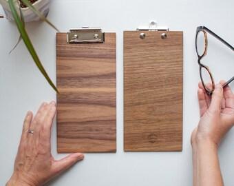 Clipboard   Walnut Horizontal, Mini Walnut Clipboard, Office Clipboard, Notepad Clipboard