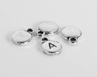 Round Silver Stamping Blank. EXTRA THICK & gorgeous! Silver tone. 8mm. Stamping tag. For hand-stamped jewelry, initial charm. Qty 20 (CL-3)